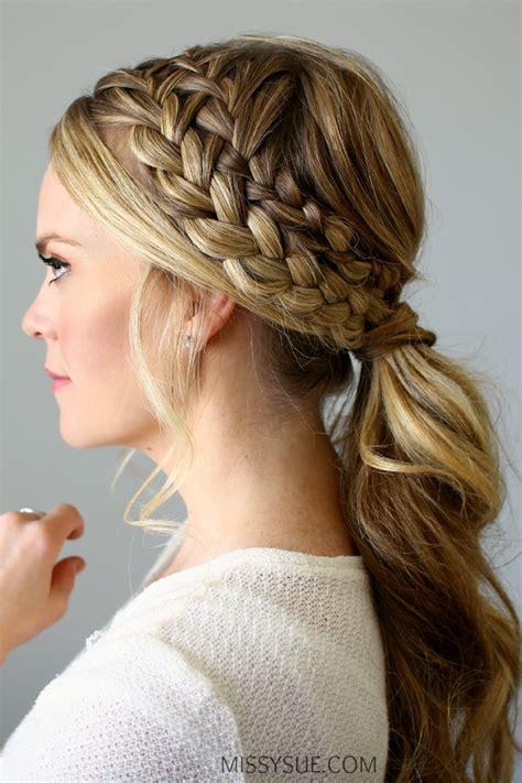 hairstyles braids ponytails hairstyle ponytail braid hairstyles