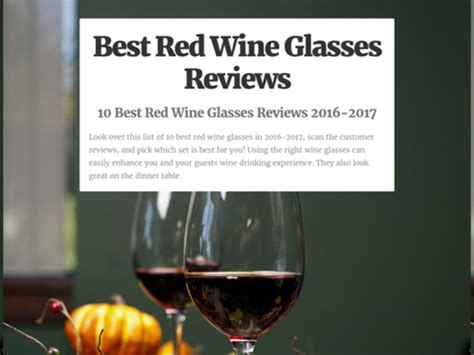 best wine glasses 2016 10 best red wine glasses reviews 2016 2017 a listly list