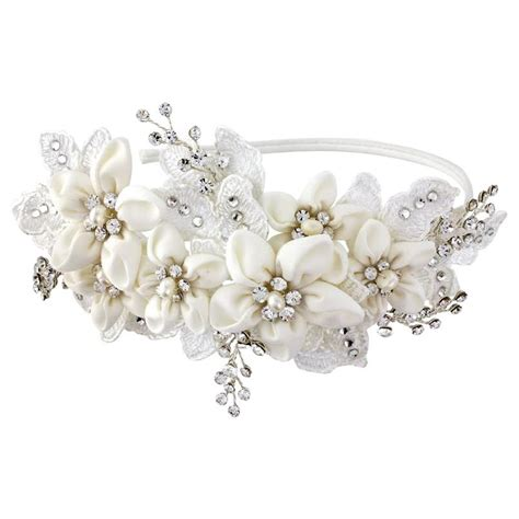 Wedding Accessories by Grace Fabric Flower Headband Bridal Jewellery