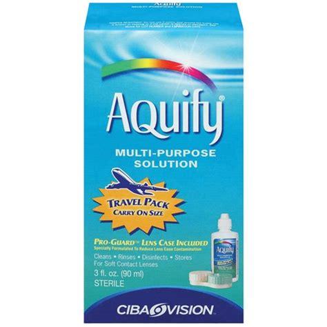 Multi Purpose Solution aquify multi purpose solution contact lens cleaner 3 oz walmart