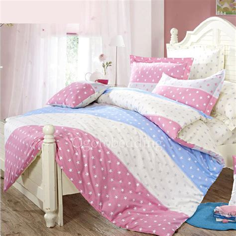 girls teen bedding star pattern queen size cotton bedding for teen girls
