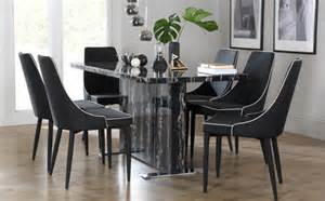 Marble Dining Room Table And Chairs by Magnus Black Marble Dining Table With 4 Modena Black