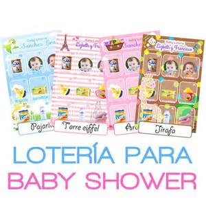 loteria baby shower personalizada juegos invitaciones