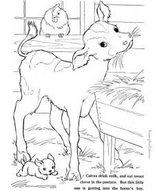 printable farm animal coloring sheets 028