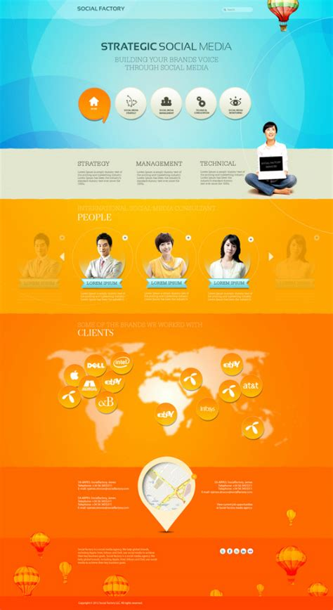 web design color layout 40 inspirational exles of orange color in web design