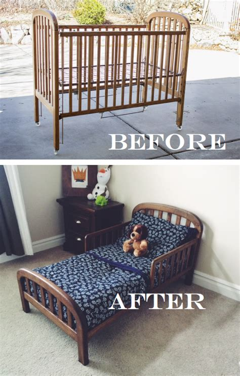 How To Convert A Crib To A Toddler Bed Do It Yourself Divas Diy Crib Into Toddler Bed