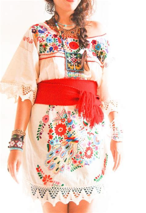 mexican themed clothing party handmade mexican embroidered dresses and vintage treasures