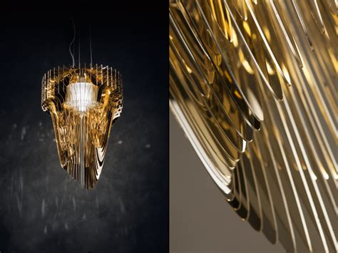 Zaha Hadid Chandelier Gold Chandelier By Zaha Hadid For Sl 187 Retail Design
