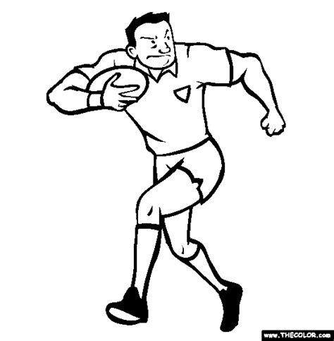 Rugby Outline by Football And Rugby Coloring Pages