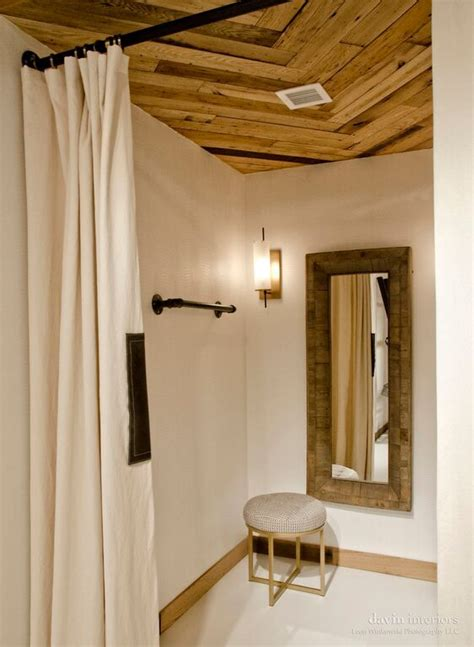 Fitting Room Partitions by Dressing Concrete Floors And Room Partitions On