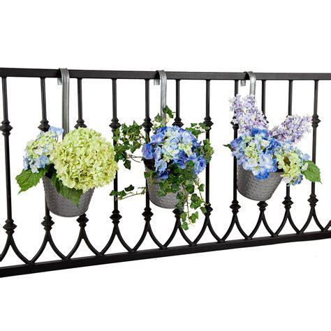 galvanized tin balcony planters hooks lattice