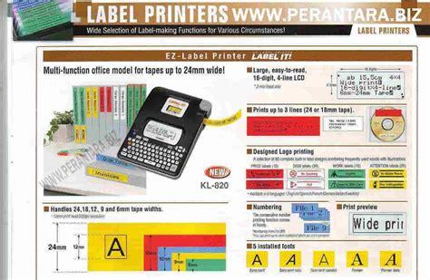 Diskon Casio Label Printer Kl 820 Mesin Label Printer Casio Kl 820 เคร องพ มพ ฉลาก casio kl 820 2851927