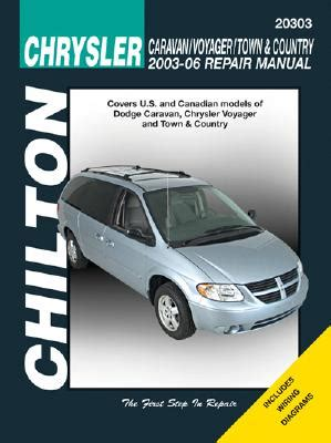 small engine service manuals 2003 chrysler town country interior lighting chrysler caravan voyager town country 2003 06 repair manual covers u s and canadian models