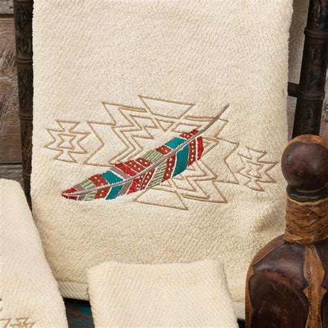Embroidered Towel Bath Towel embroidered feathers bath towel