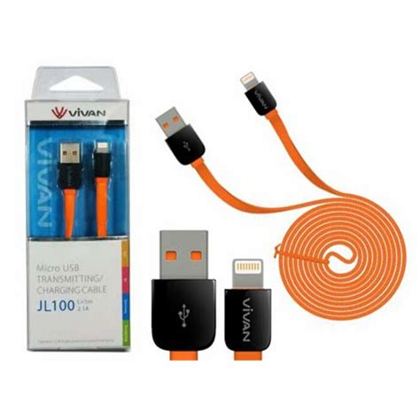 Usb Iphone 5 Vivan Kabel Vivan Jl 100 Lightning Usb Iphone 5 6 Fast
