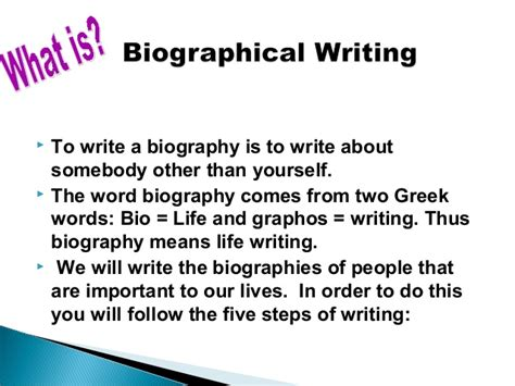 what is biography in english how to write a biography about any famous personality