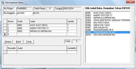 tutorial visual basic indonesia vb 6 0 program aplikasi perpustakaan belajar vb 6 0