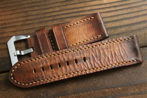 Handmade Leather Straps - handcraft vintage 26mm handmade leather straps buy