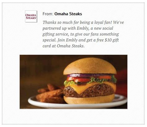 Omaha Steaks Gift Card Target - free 10 omaha steaks gift card double cash back from ebates who said nothing in