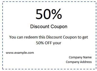 best photos of free coupon voucher template free drink