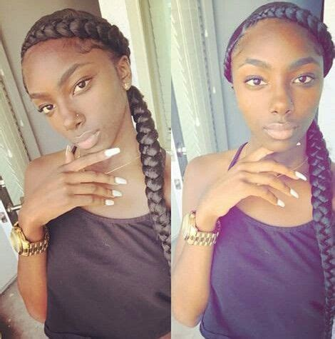 cornrows hairstyles two two big cornrows sew in hairstyles pinterest big