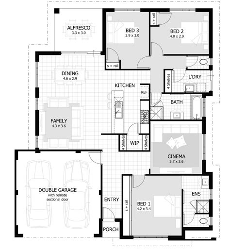 House Plans And Images by Large 3 Bedroom House Plans Luxury 35 Large Premium