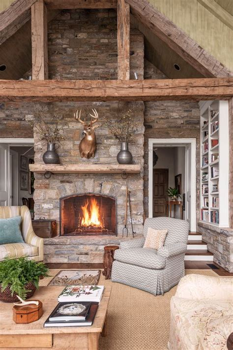 pictures of country homes interiors fireplaces deer and most beautiful on