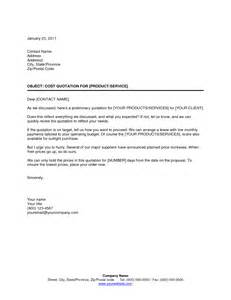 quotation cover letter quotation cover letter sle quotation cover letter and
