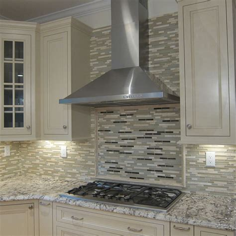 Kitchen Glass Tile Backsplash Ideas traditional kitchen with glass panel by