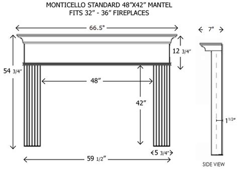 standard mantel height wood fireplace mantels builder mantels monticello