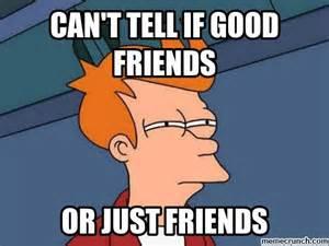 Good Friends Meme - can t tell if good friends