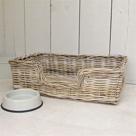 wicker dog bed wicker dog bed basket bliss and bloom ltd