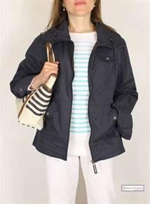ladies summer short waterproof jacket navy blue the