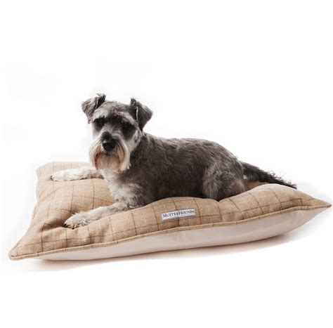 dog pillow bed luxury tweed pillow dog beds by mutts hounds notonthehighstreet com