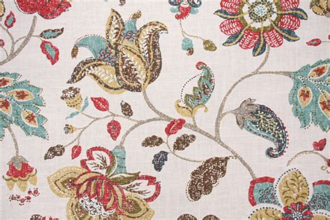 robert allen drapery fabric robert allen spring mix printed linen drapery fabric in poppy