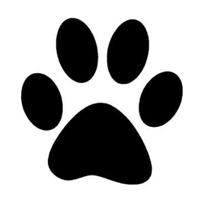 paw print template paw print stencil clipart best