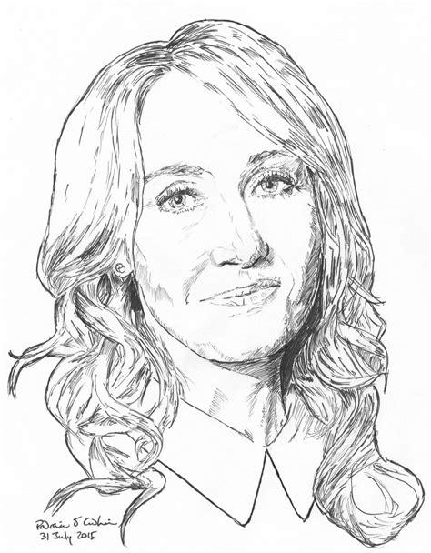 J K Rowling Sketches by Padraic Cadhain Cadhain
