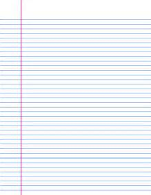 College Ruled Lined Paper Template by Pin College Ruled Paper Template On