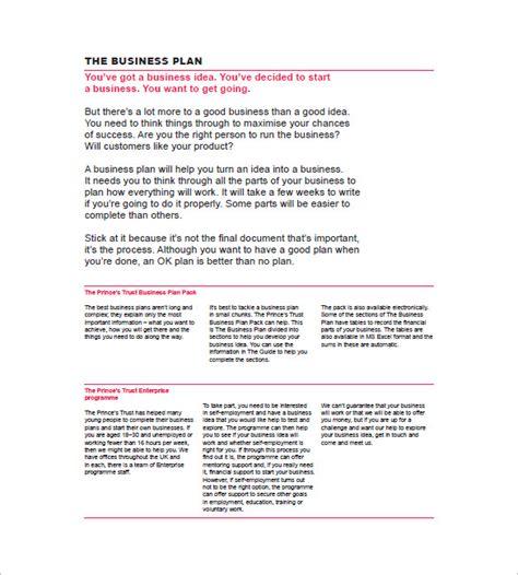 Galerry simple printable business plan