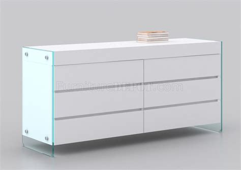 Glossy White Dresser by Il Vetro Dresser In High Gloss White By Casabianca