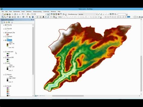 arcgis watershed tutorial watershed delineation using dem spatial analyst in ar