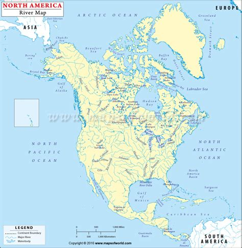 america rivers map buy america rivers and lakes map