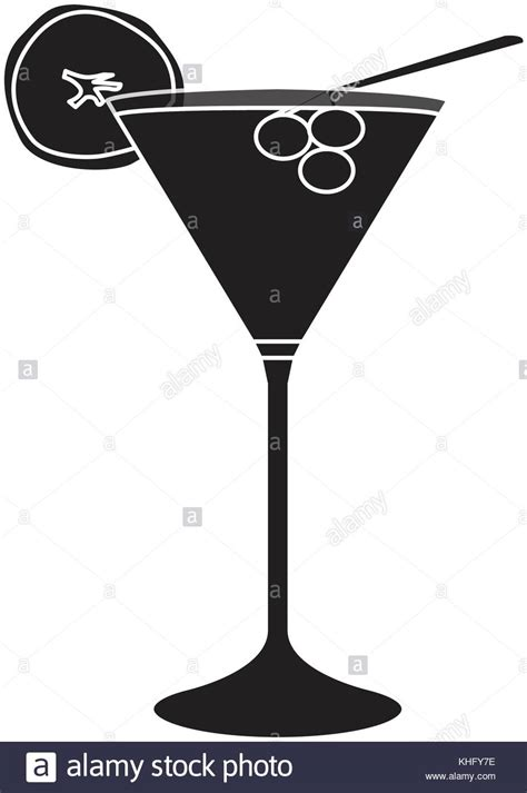 cocktail silhouette isolated cocktail silhouette stock vector