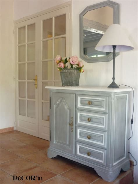 Painted Armoires Meuble Bas Relook 233 Avant Apr 232 S Decor In Id 233 Es Amp Conseils