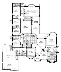 5 Bedroom One Story House Plans Floor Plans Aflfpw02368 1 Story Mediterranean Home With