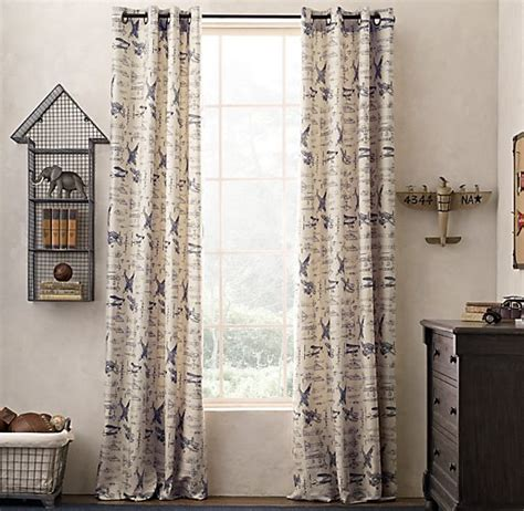 restoration hardware baby curtains restoration hardware baby airplane curtains curtain