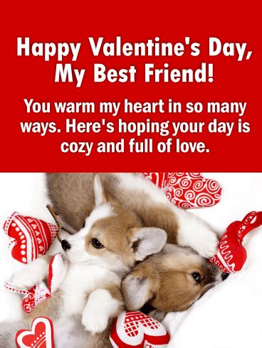 happy valentines day best friend you warm my happy s day card for friends