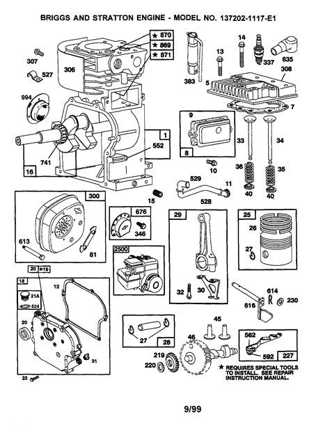 briggs and stratton engine parts diagram briggs stratton engine parts and diagrams images