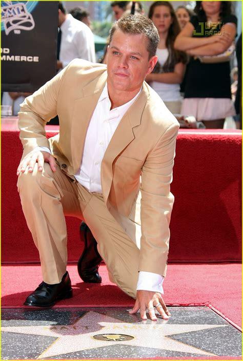 Matt Damon Gets His Walk Of Fame matt damon gets walk of fame photo 505981