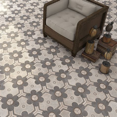 Vintage Tile Flooring by Vintage Hexagon Tiles